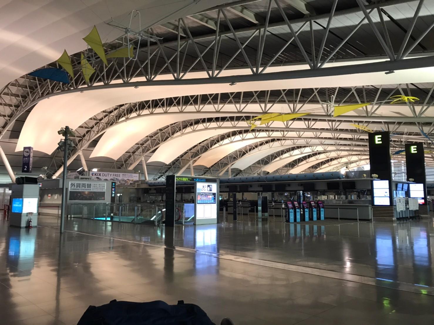 出発時の関西国際空港 驚愕の光景ですが、出発に際し、覚悟をいただいた気がします